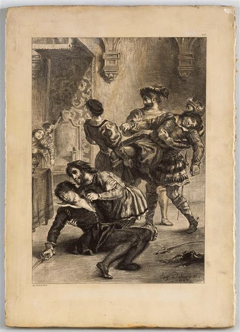 Eugène Delacroix, La mort d'Hamlet après le duel